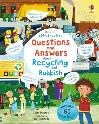 Usborne lift-the-flap questions and answers about recycling and rubbish